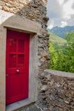 Eine rote Tür Stockbild