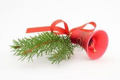 Eine rote Weihnachtsglocke Stockfoto