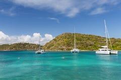 Eine ruhige Bucht in Antigua Lizenzfreie Stockbilder