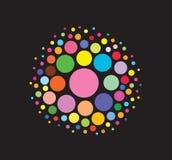Eine runde Kugel des Farbenauszuges. Lizenzfreie Stockbilder