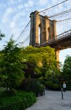 Eine Säule der Brooklyn-Brücke Lizenzfreies Stockbild