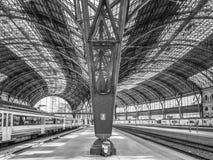 Eine Säule der Station Stockbild