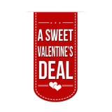 Eine süße Valentinsgrußabkommenfahne Stockbilder