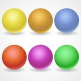 Eine Sammlung Bälle von verschiedenen Farben und lizenzfreie abbildung
