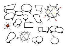 Eine Sammlung komische Artspracheblasen Lizenzfreie Stockbilder