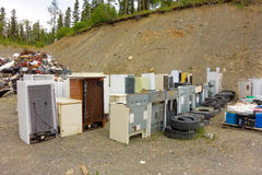 Eine saubere Deponie in Nord-Kanada Lizenzfreie Stockfotografie