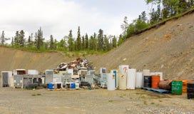 Eine saubere Deponie in Nord-Kanada Lizenzfreie Stockbilder