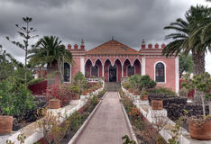 Eine schöne alte Villa Stockfoto