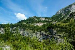 Eine schöne Ansicht der österreichischen Alpen Stockbild