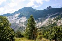 Eine schöne Ansicht der österreichischen Alpen Lizenzfreie Stockfotos