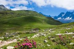 Eine schöne Ansicht der französischen Alpen Stockfoto