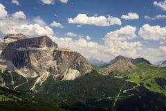 Eine schöne Ansicht der Sella-Gruppe dolomites Italien stockfotografie