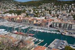 Eine schöne Ansicht des Hafens von Nizza Lizenzfreies Stockfoto