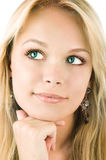 Eine schöne blonde Frau Lizenzfreie Stockbilder