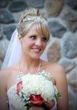 Eine schöne Braut. Stockfotografie