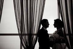 Eine schöne Braut und ein Bräutigam Stockfotos