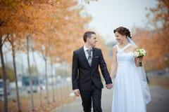 Eine schöne Braut und ein Bräutigam Lizenzfreie Stockfotos