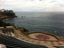 eine schöne Einstellung mit einer unglaublichen Ansicht zum Meer, Acapulco Stockbild
