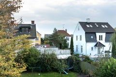 Eine schöne europäische städtische Ansicht vom Balkon Lizenzfreies Stockbild