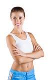 Eine schöne Frau beim Sportkleiden Stockbild