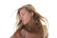 Eine schöne junge blonde Frau Stockfotos