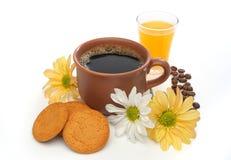 Eine schöne Kaffeeszene Stockbilder
