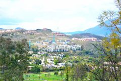 eine schöne Landschaft von Estepona, Costa del Sol, Spanien Lizenzfreie Stockfotografie