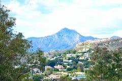 eine schöne Landschaft von Estepona, Costa del Sol, Spanien Lizenzfreies Stockbild