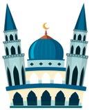 Eine schöne Moschee auf weißem Hintergrund lizenzfreie abbildung