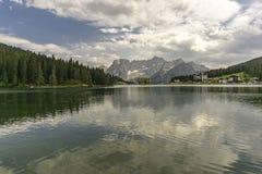 Eine schöne Sommeransicht von See Misurina dolomites Italien stockfoto