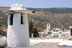 Eine Schönheitsansicht der eigenartigen Kamine Stockbild