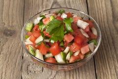 Eine Schüssel mit Salsa mexicana Stockfotos