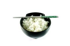 Eine Schüssel Reis über weißem Hintergrund Lizenzfreies Stockbild