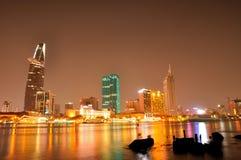 Eine sch?ne Ansicht in Ho Chi Minh-Stadt stockbilder