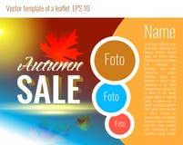 Eine Schablone für das Design einer Broschüre Herbstfarben 9 Lizenzfreies Stockbild