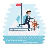 Eine Schablone von 2 Piraten und von ihrem Schiff Lizenzfreie Stockfotos