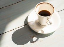 Eine Schale betrunkener Kaffee Lizenzfreies Stockfoto