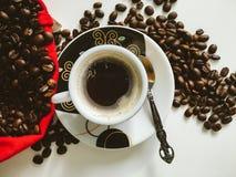 Eine Schale Espresso Stockfoto