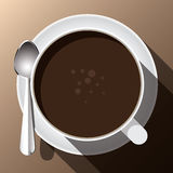 Eine Schale heißes Kaffeegebräu Stockbild