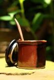 Eine Schale köstlicher Kaffee- oder Schalenzucker Lizenzfreie Stockbilder