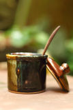 Eine Schale köstlicher Kaffeezucker Lizenzfreie Stockfotos
