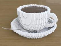Eine Schale Pixelkaffee, pixelate Kaffee Lizenzfreie Stockbilder