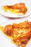 Eine Scheibe der Pizza Lizenzfreies Stockfoto