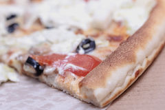 eine Scheibe der Pizza lizenzfreies stockbild