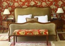 Eine Schlafzimmerreihe Stockfotos
