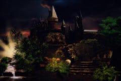 Eine Schlosslandschaft einer vergessenen Zeit Lizenzfreie Stockfotos