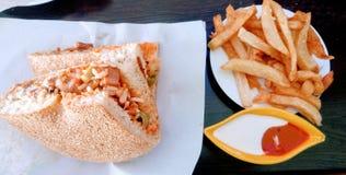 Eine schnelle Mahlzeit lizenzfreie stockfotografie