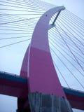 Eine Schrägseilbrücke in Hsinchu County, Taiwan lizenzfreies stockfoto
