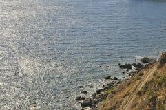 Eine Seeansicht von oben Stockfoto