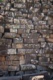Eine sehr alte Steinwand lizenzfreies stockfoto